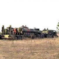 Activists stop Neonazi Ukrainian Coup Government's military trucks heading to Russian border
