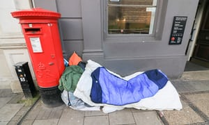 Deaths of UK homeless people more than double in five years