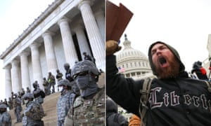 Maga v BLM: how police handled the Capitol mob and George Floyd activists – in pictures