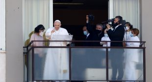 Pope reappears after surgery, backs free universal health care