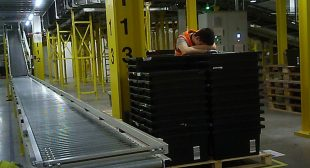 Amazon warehouse workers taken away by ambulances after collapsing due to exhaustion