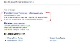 "The White House ""Putin Sponsors Terrorism"" Smear Campaign on Twitter and Google"