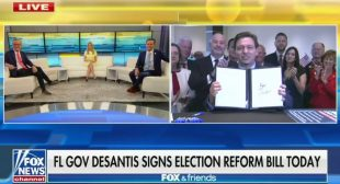 'This Is How Fascists Operate': DeSantis Signs Anti-Voting Bill Behind Closed Doors for Fox News