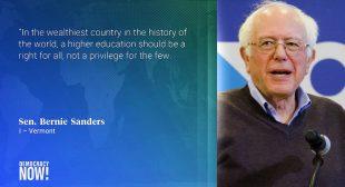 Bernie Sanders and Pramila Jayapal Unveil Bill That Would Tax Wall Street to Make College Free