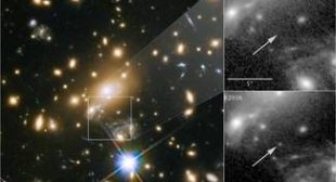 Gravity and good timing helped the Hubble spot a star from the early universe